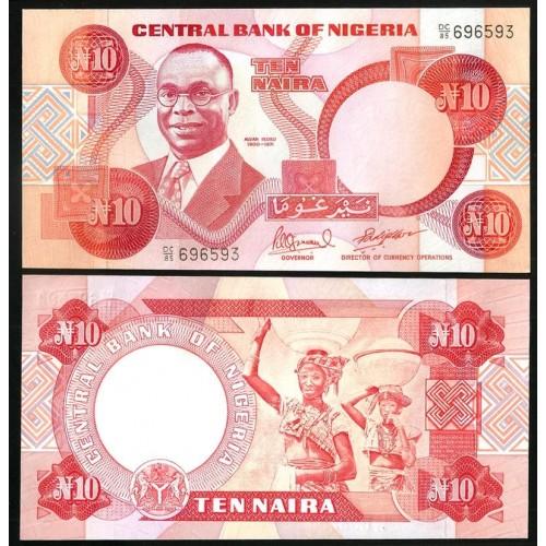 NIGERIA 10 Naira 1985
