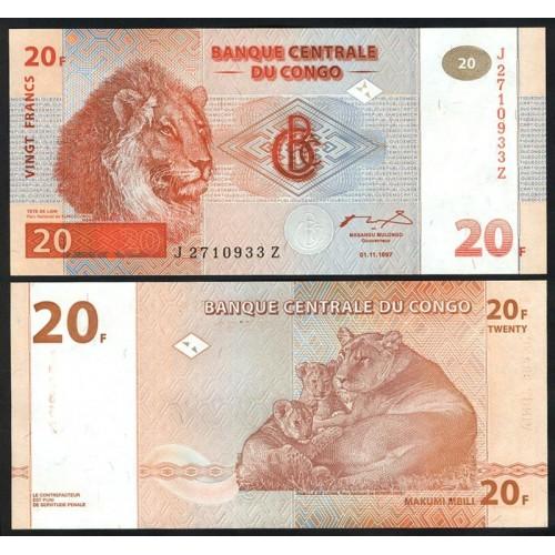 CONGO DEMOCRATIC 20 Francs...