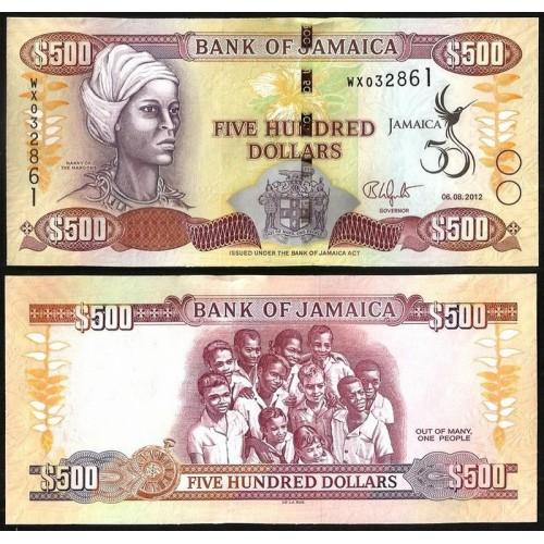 JAMAICA 500 Dollars 2012...