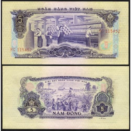 VIET NAM SOUTH 5 Dong 1966...