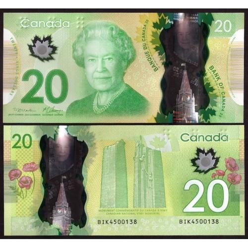 CANADA 20 Dollars 2012 Polymer