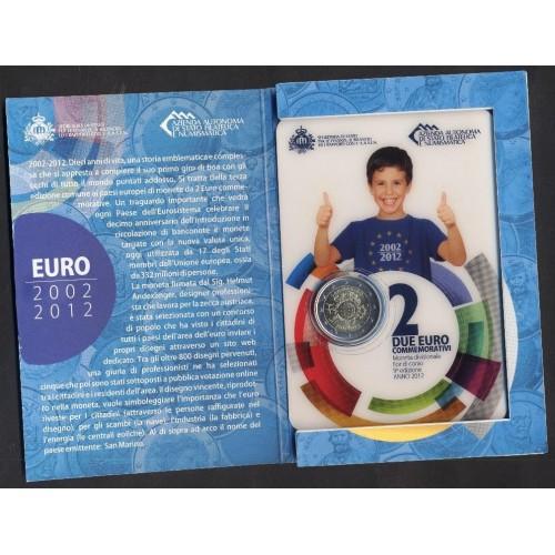 SAN MARINO 2 EURO 2012 10°...