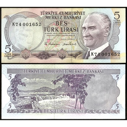 TURKEY 5 Lira 1976