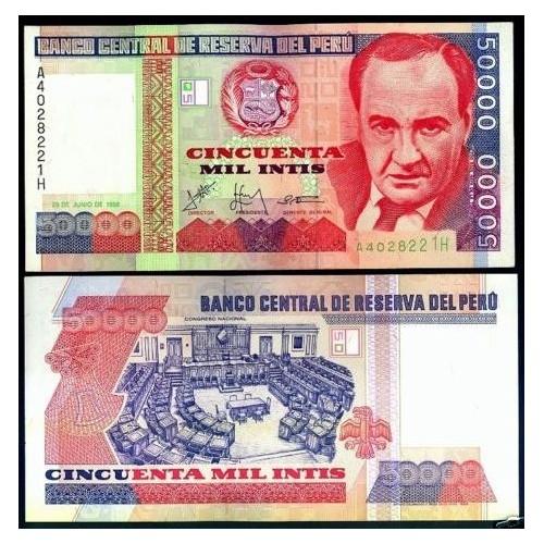 PERU 50.000 Intis 1988