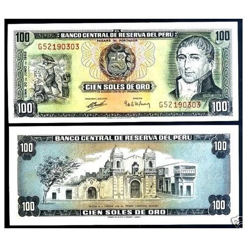 PERU 100 Soles de Oro 1969