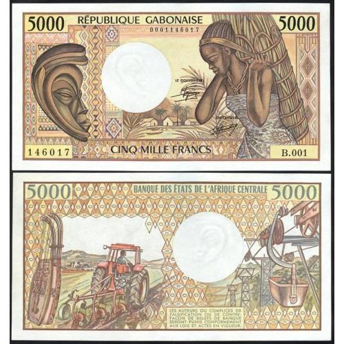 GABON 5000 Francs 1984