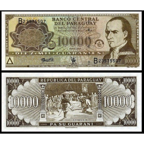 PARAGUAY 10.000 Guaranies 2003
