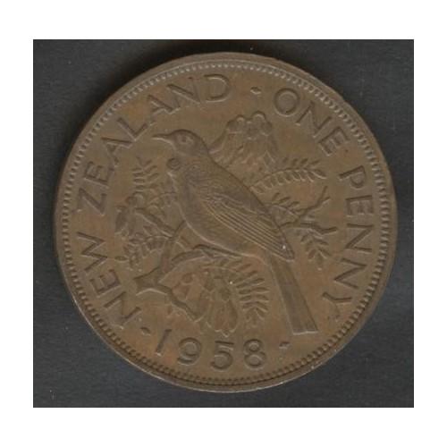 NEW ZEALAND 1 Penny 1958