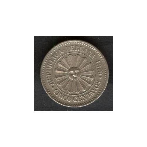 PERU 5 Centavos 1879