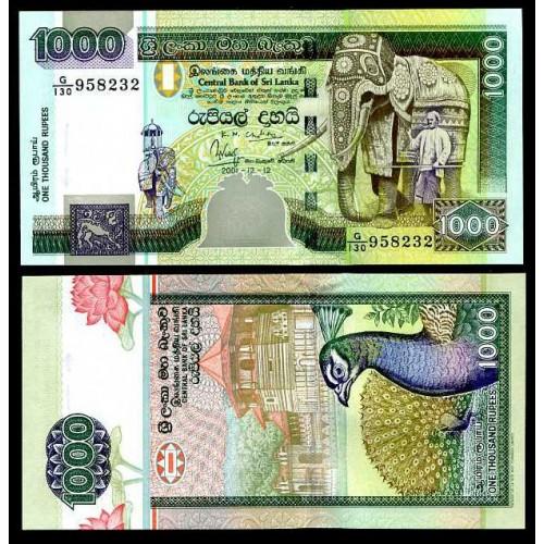 SRI LANKA 1000 Rupees 2001