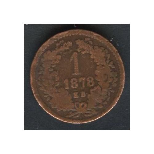 HUNGARY 1 Krajczar 1878