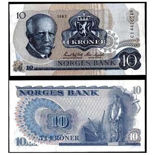 NORWAY 10 Kroner 1983
