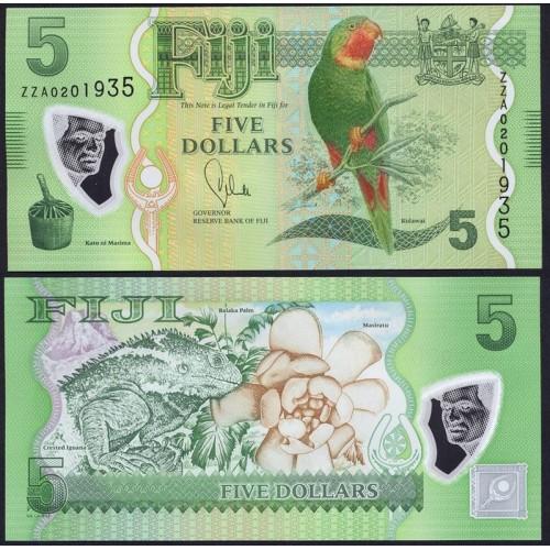 FIJI 5 Dollars 2013 Polymer...