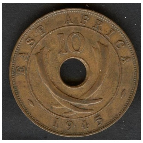 EAST AFRICA 10 Cents 1945