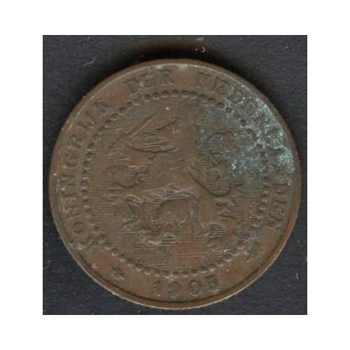 NETHERLANDS 1 Cent 1905