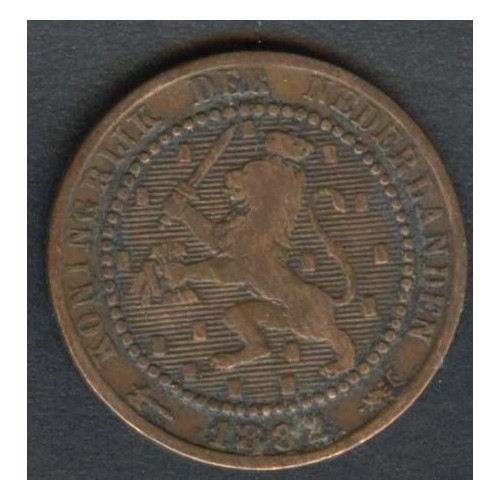 NETHERLANDS 1 Cent 1882