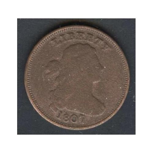 USA Draped Bust Half Cent 1807