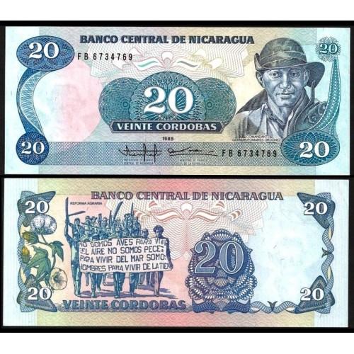 NICARAGUA 20 Cordobas 1985
