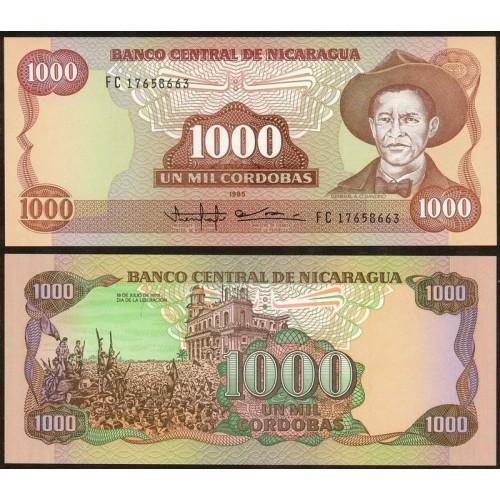 NICARAGUA 1000 Cordobas 1985