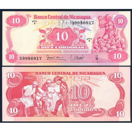 NICARAGUA 10 Cordobas 1979