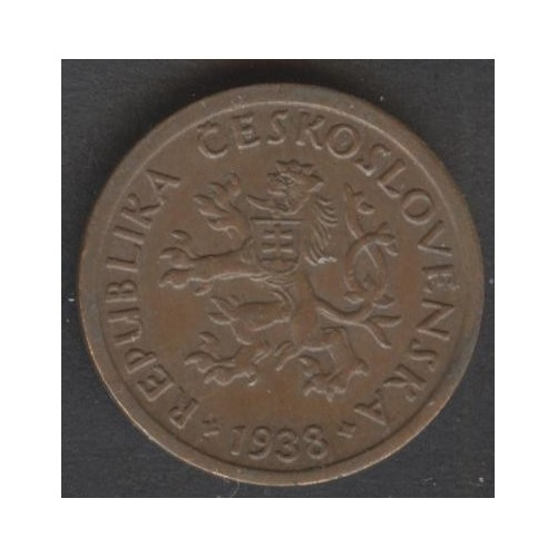 CZECHOSLOVAKIA 10 Haleru 1938