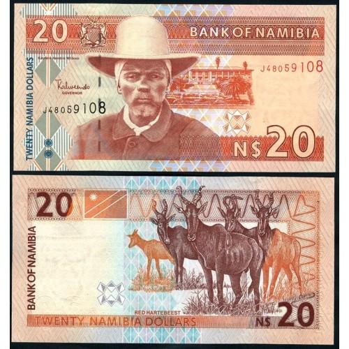 NAMIBIA 20 Dollars 2002