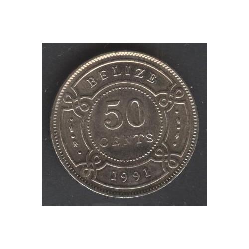 BELIZE 50 Cents 1991