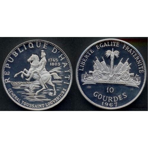HAITI 10 GOURDES 1967 10th...