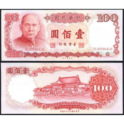 TAIWAN 100 Yuan 1987