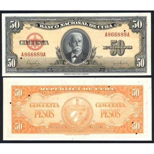 CUBA 50 Pesos 1950