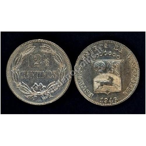 VENEZUELA 12 1/2 Centimos 1946