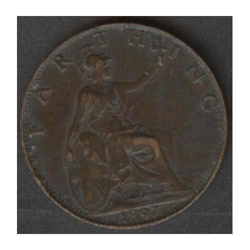 GREAT BRITAIN 1 Farthing 1897