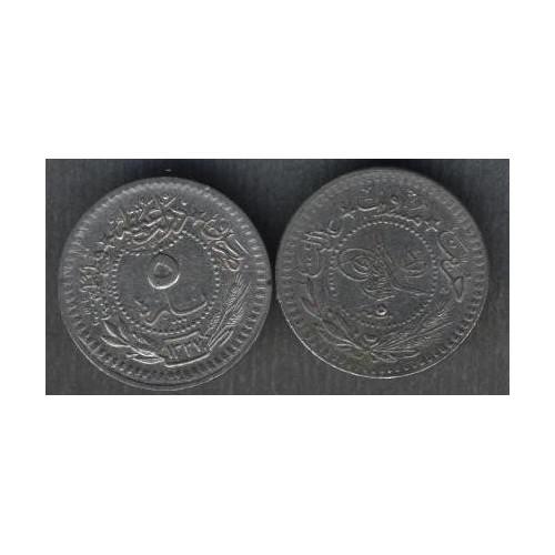 TURKEY 5 Para AH 1327/5 (1913)
