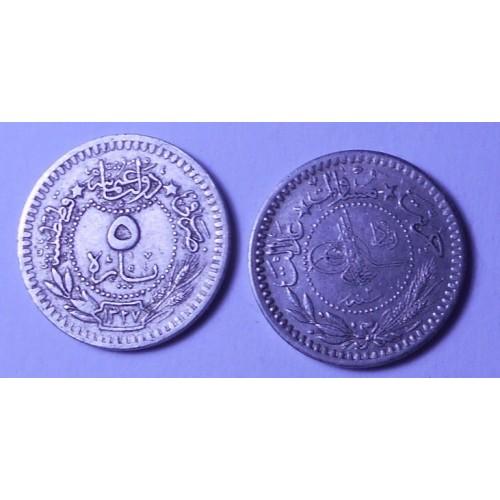 TURKEY 5 Para AH 1327/2 (1910)