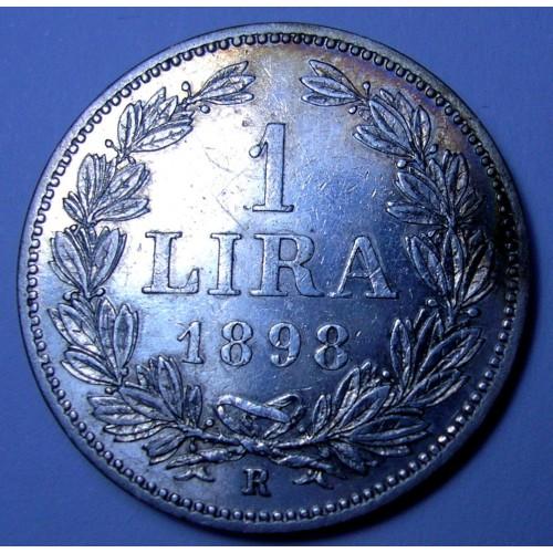 SAN MARINO 1 Lira 1898 AG