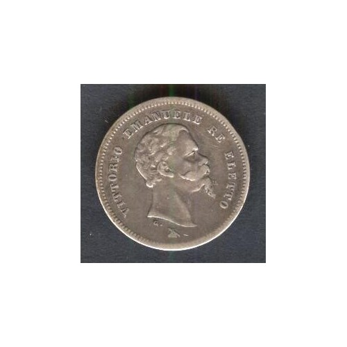 50 CENTESIMI 1860 F RE ELETTO