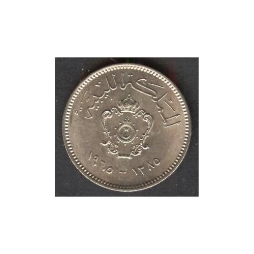 LIBYA 10 Milliemes 1965