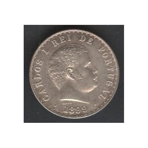 PORTUGAL 500 Reis 1899 AG...
