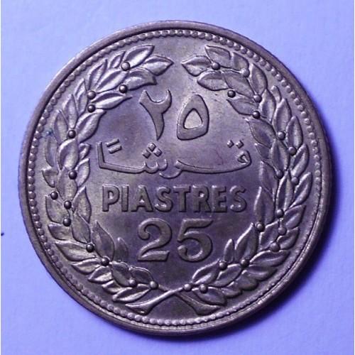 LEBANON 25 Piastres 1970