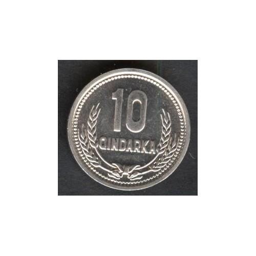 ALBANIA 10 Qindarka 1988