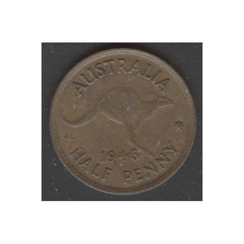 AUSTRALIA 1/2 Penny 1946
