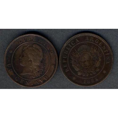 ARGENTINA 1 Centavo 1884
