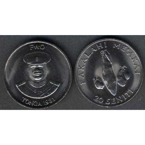 TONGA 20 Seniti 1981 FAO