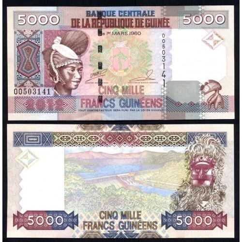 GUINEA 5000 Francs 2012