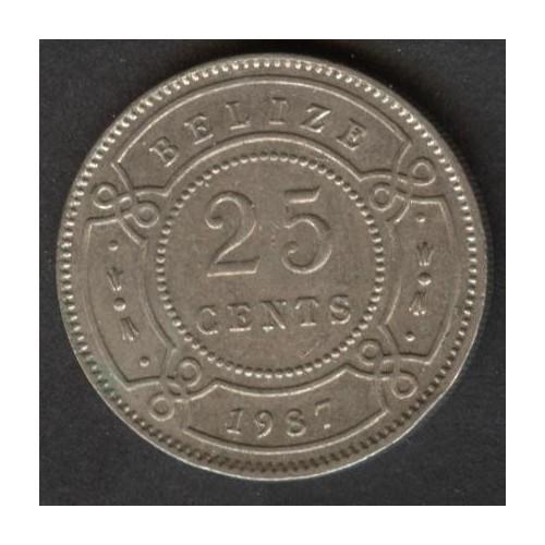 BELIZE 25 Cents 1987