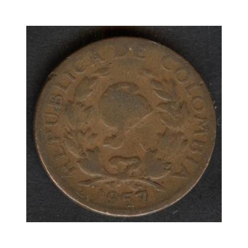 COLOMBIA 5 Centavos 1957