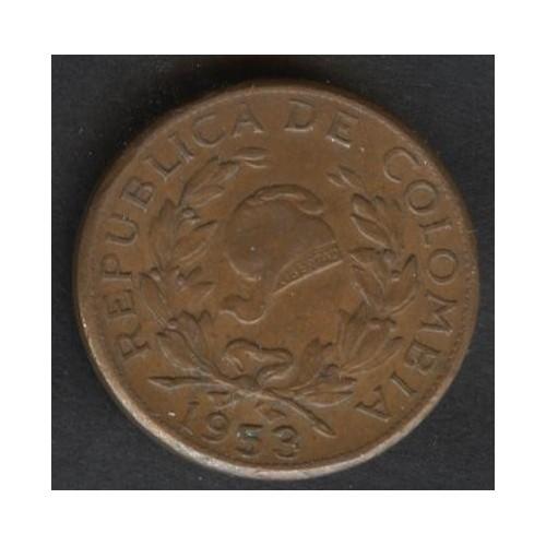 COLOMBIA 5 Centavos 1953 B