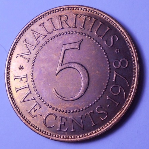 MAURITIUS 5 Cents 1978