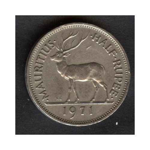 MAURITIUS 1/2 Rupee 1971