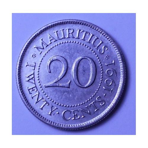 MAURITIUS 20 Cents 1991